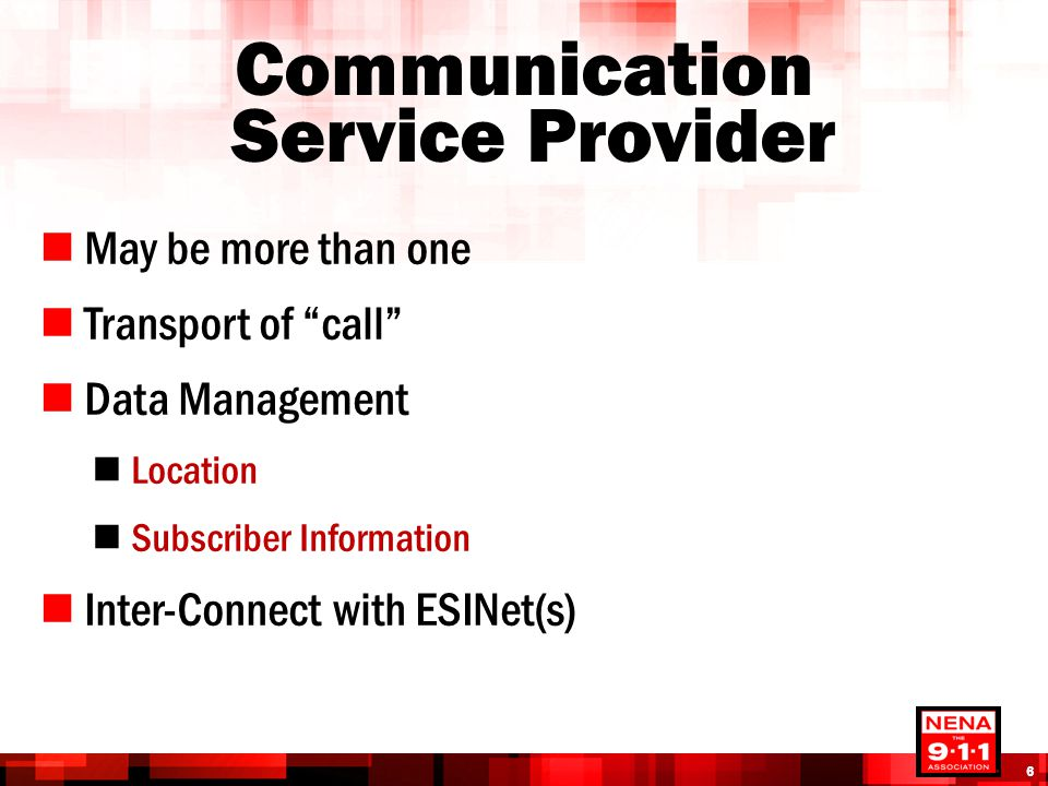 Communication Service Provider