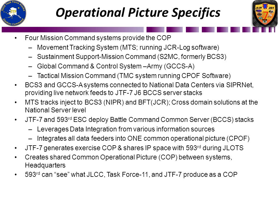 Operational Picture Specifics