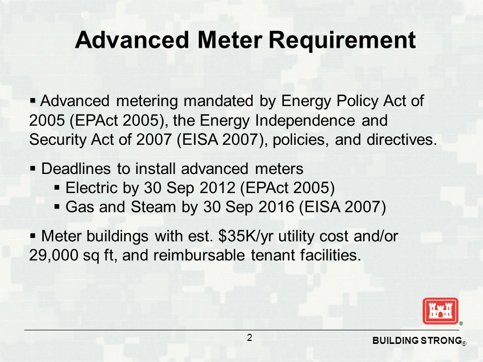 Advanced Meter Requirement