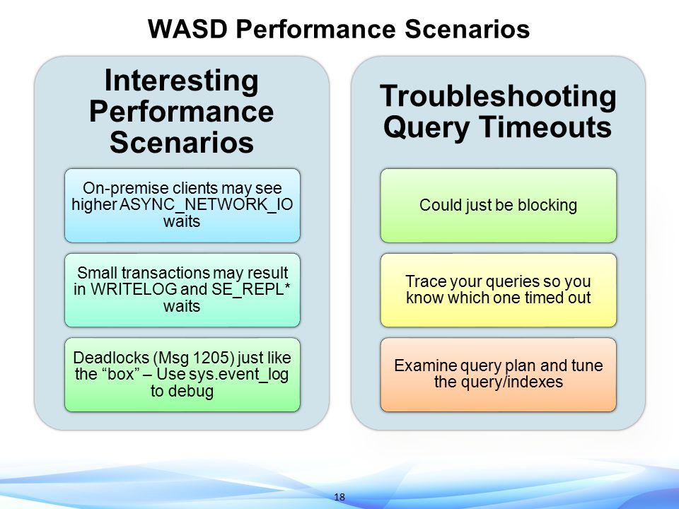 WASD Performance Scenarios