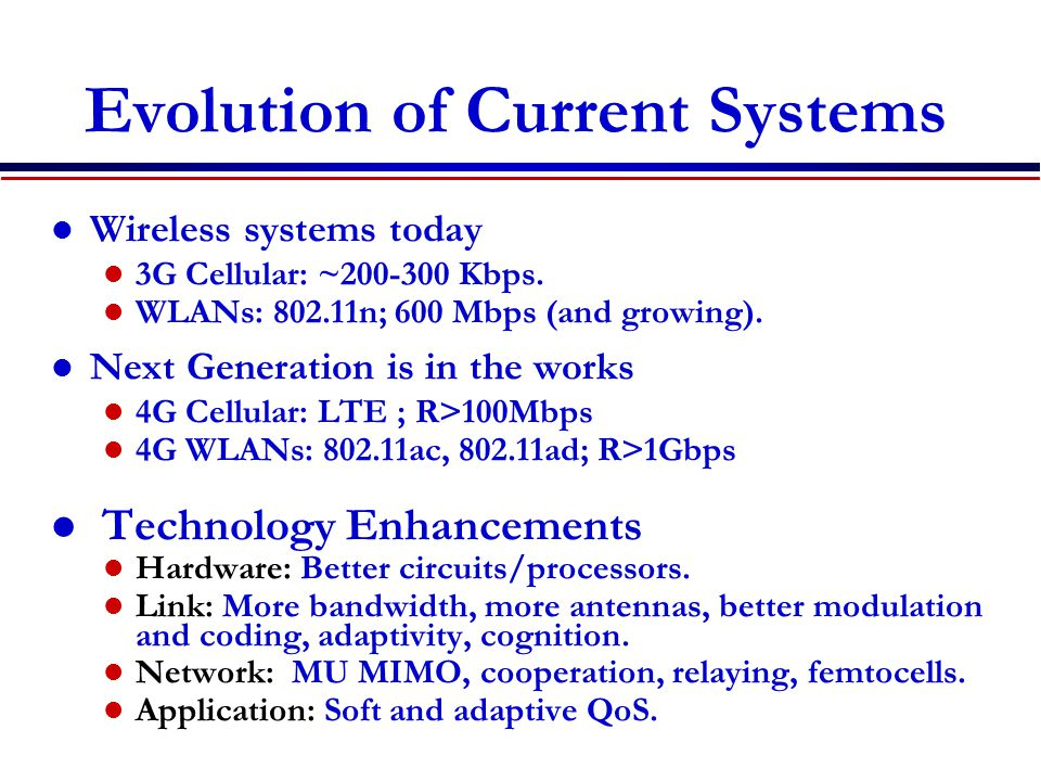 Evolution of Current Systems