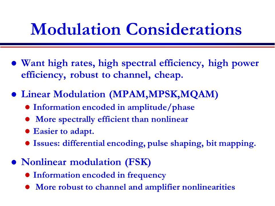 Modulation Considerations