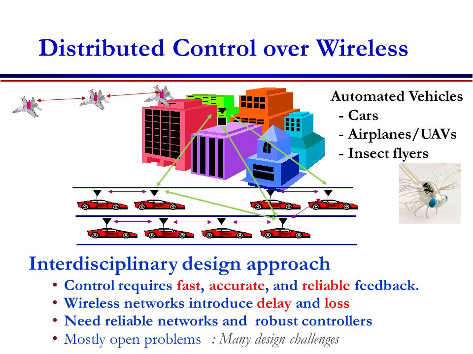 Distributed Control over Wireless