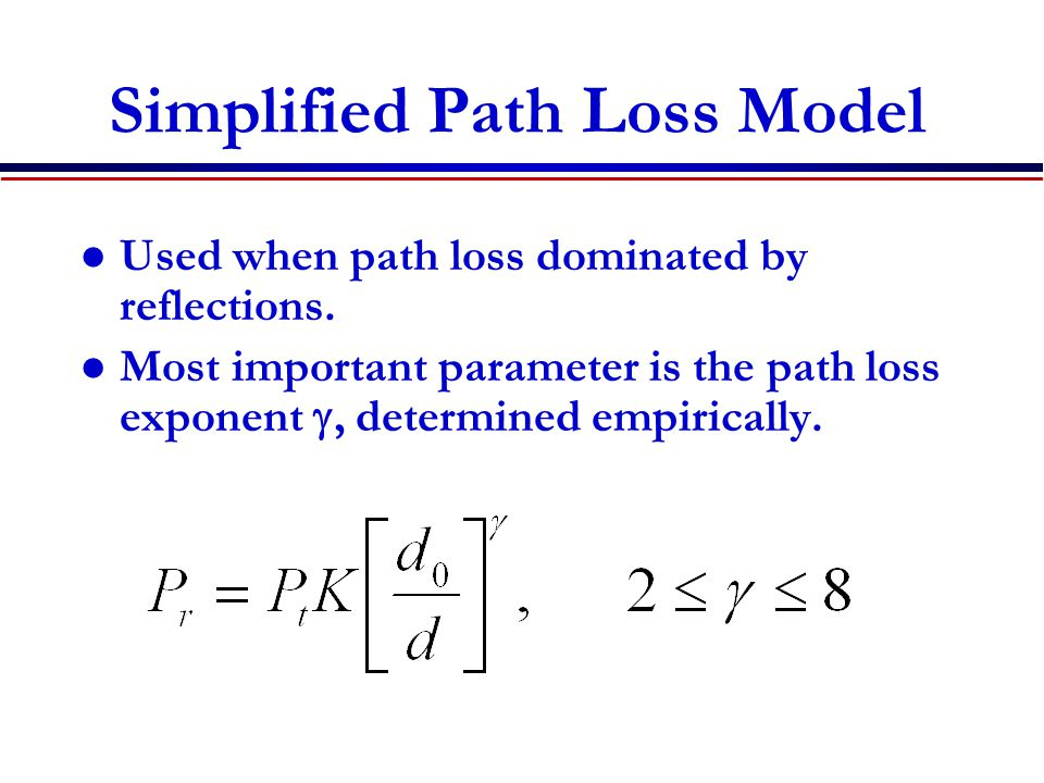 Simplified Path Loss Model
