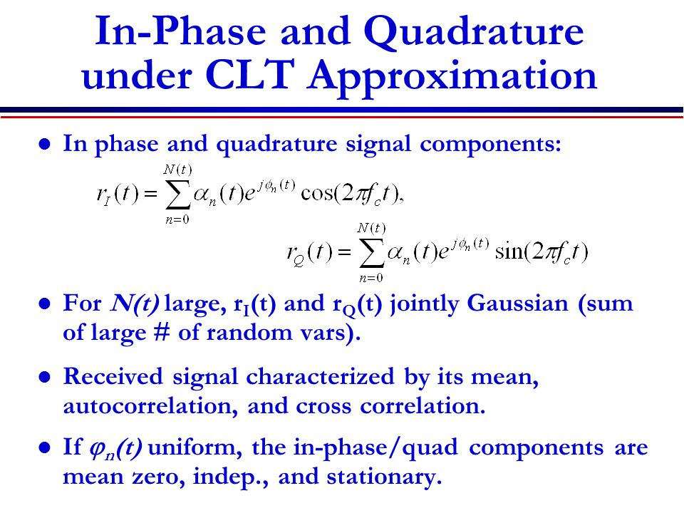 In-Phase and Quadrature under CLT Approximation