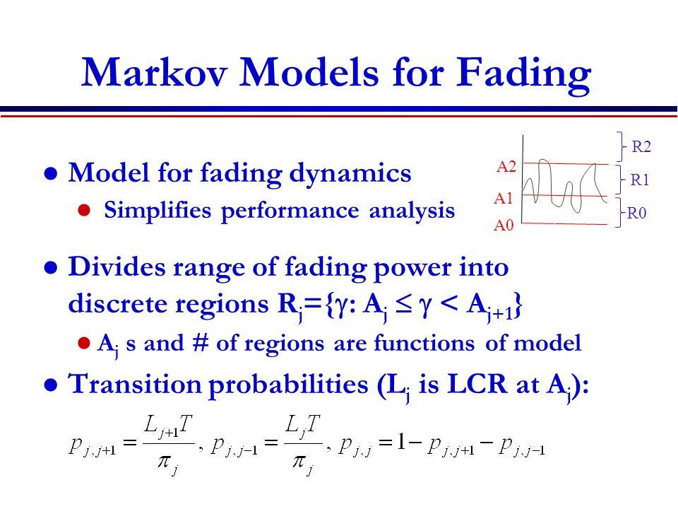Markov Models for Fading