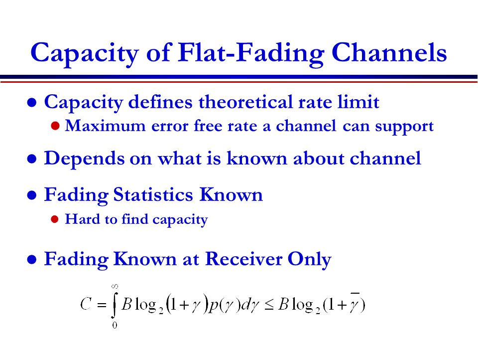 Capacity of Flat-Fading Channels