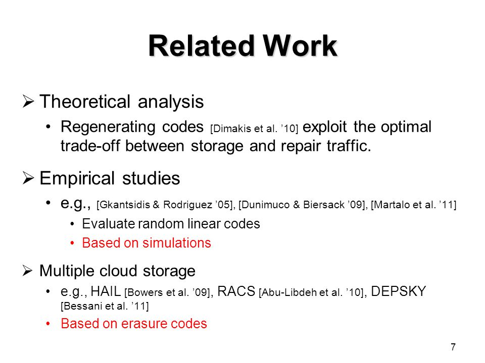Related Work Theoretical analysis Empirical studies