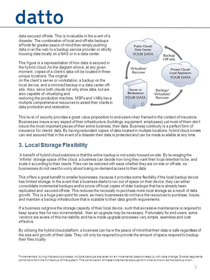 3. Local Storage Flexibility
