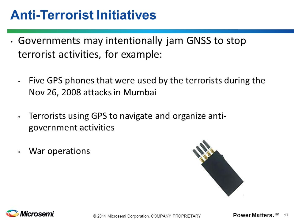 Anti-Terrorist Initiatives