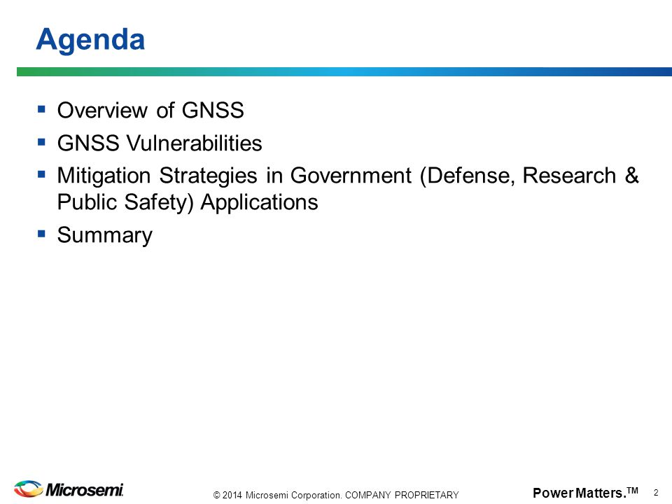 Agenda Overview of GNSS GNSS Vulnerabilities