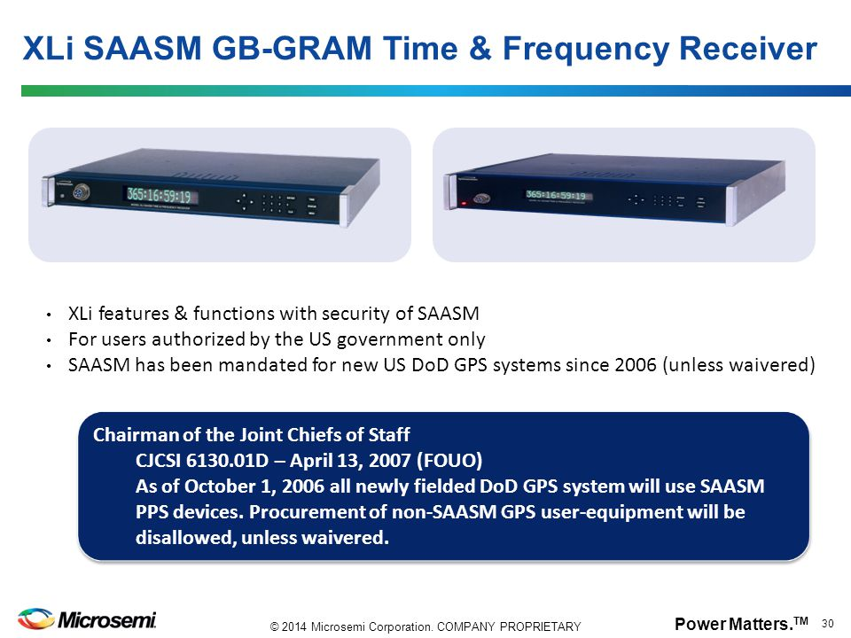 XLi SAASM GB-GRAM Time & Frequency Receiver