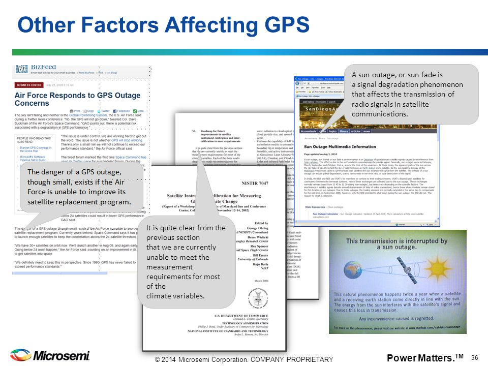 Other Factors Affecting GPS