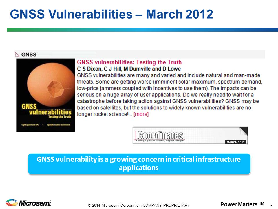 GNSS Vulnerabilities – March 2012