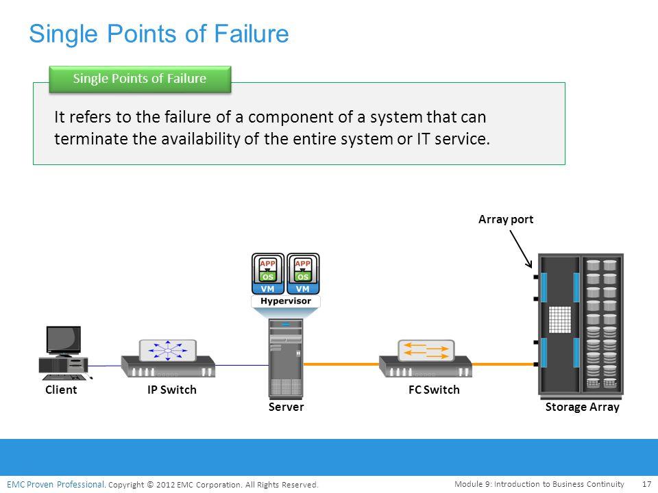 Single Points of Failure