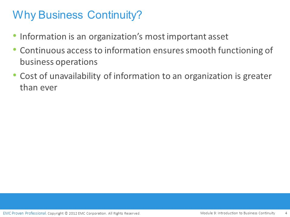 Why Business Continuity
