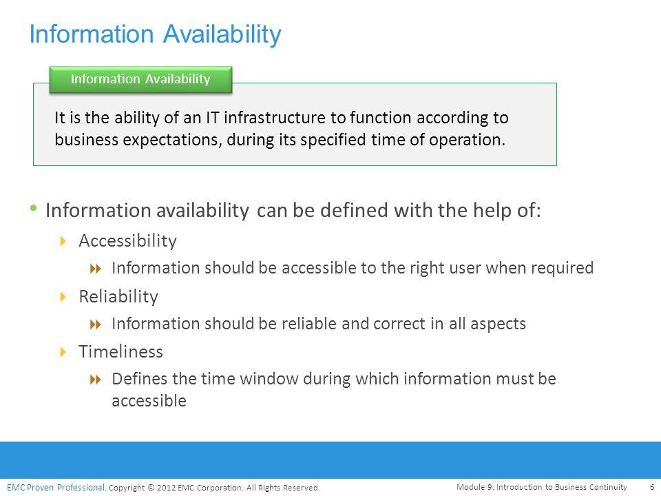 Information Availability
