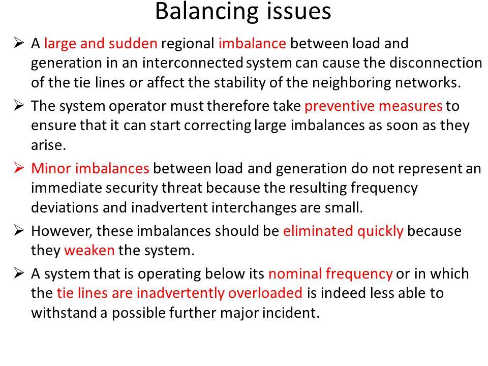 Balancing issues