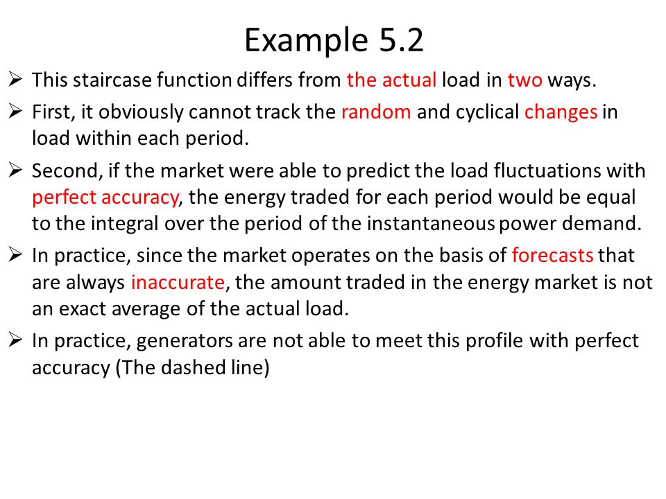 Example 5.2 This staircase function differs from the actual load in two ways.
