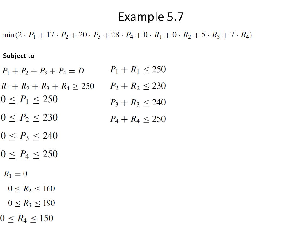 Example 5.7 Subject to