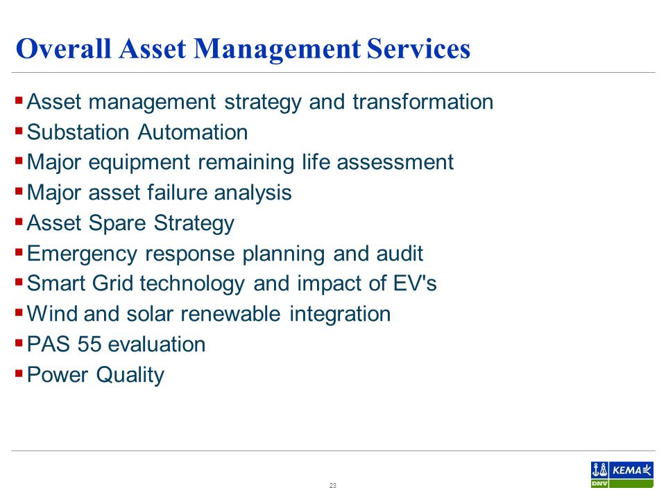 Overall Asset Management Services