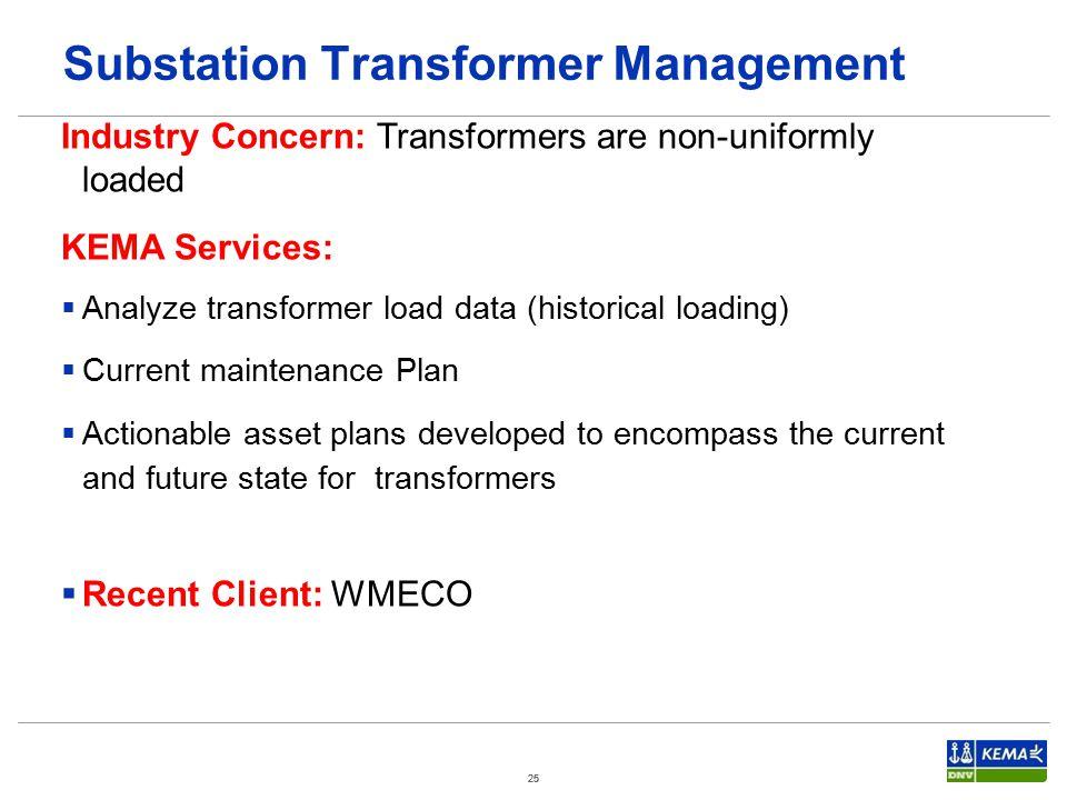 Substation Transformer Management