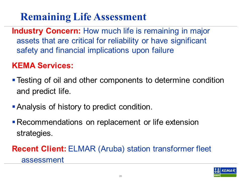Remaining Life Assessment