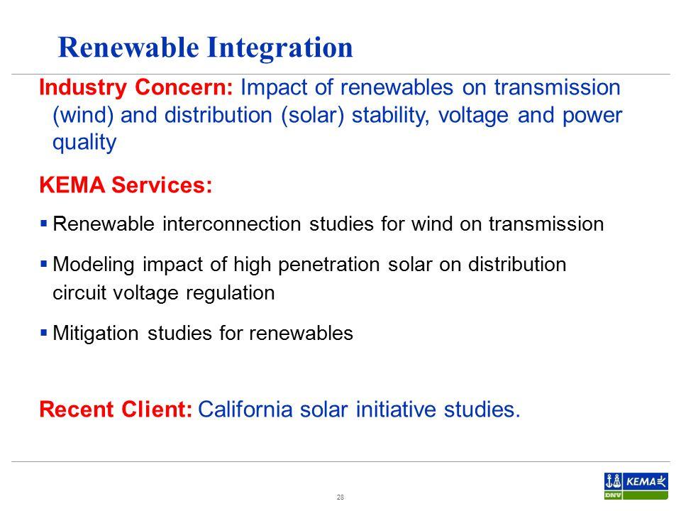 Renewable Integration