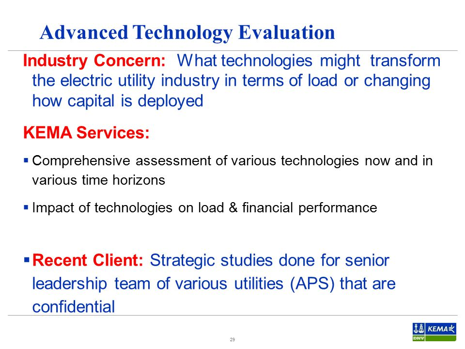 Advanced Technology Evaluation