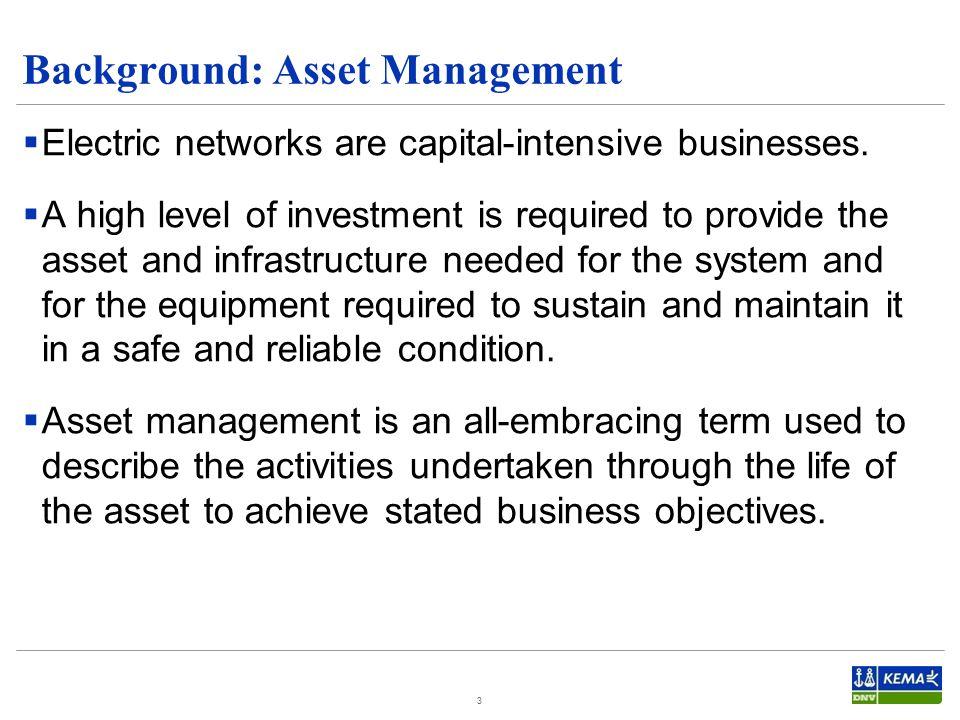 Background: Asset Management