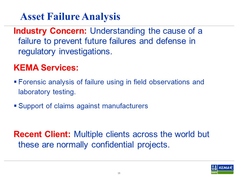 Asset Failure Analysis
