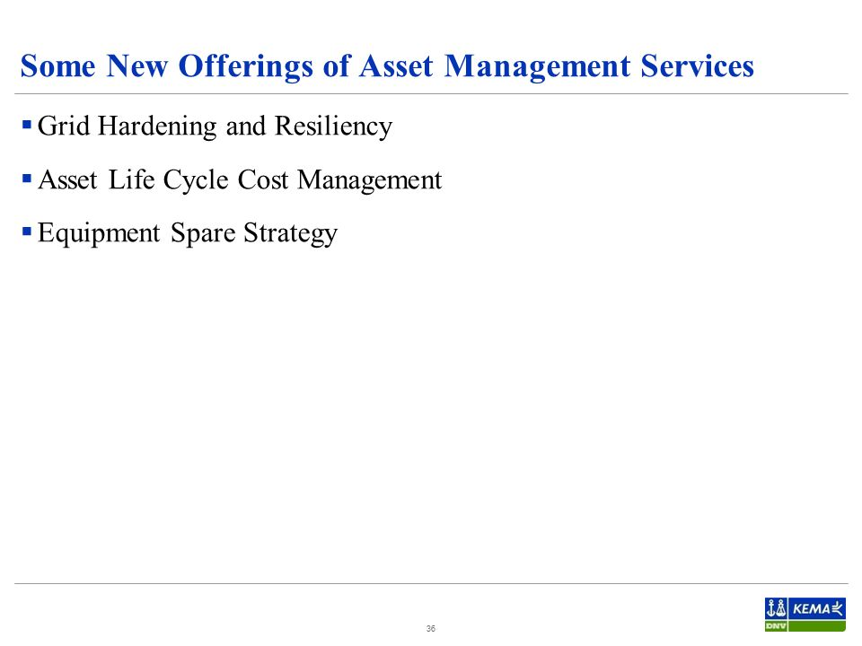 Some New Offerings of Asset Management Services