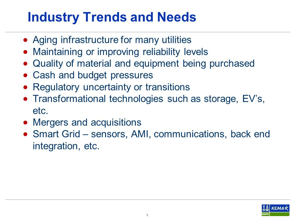 Industry Trends and Needs