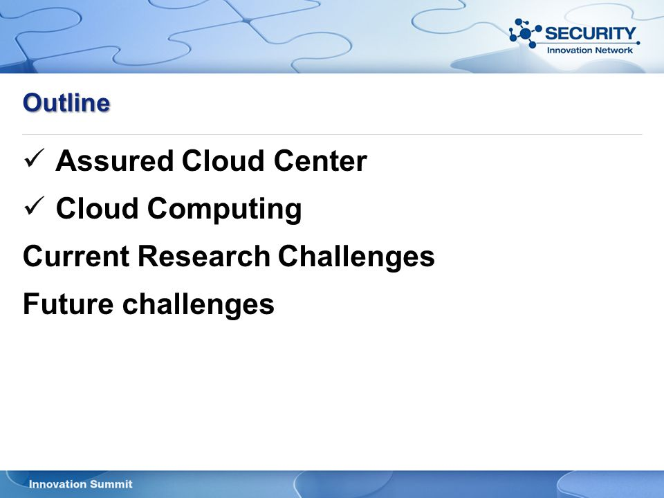 Current Research Challenges Future challenges