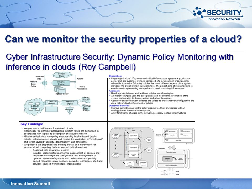 Can we monitor the security properties of a cloud