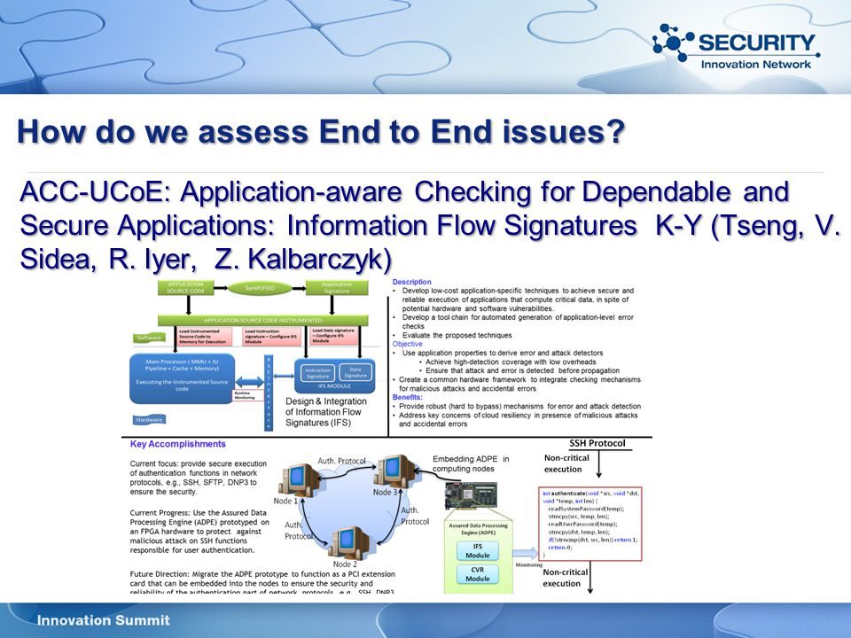How do we assess End to End issues