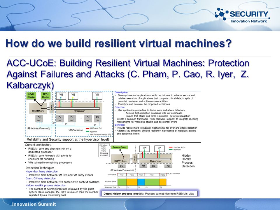 How do we build resilient virtual machines
