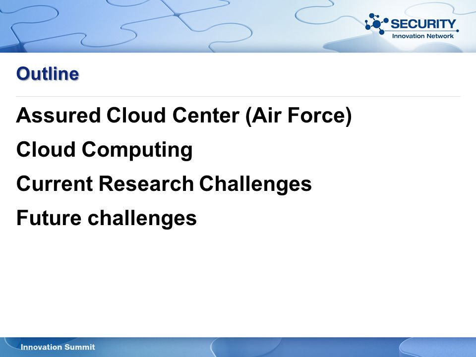 Assured Cloud Center (Air Force) Cloud Computing