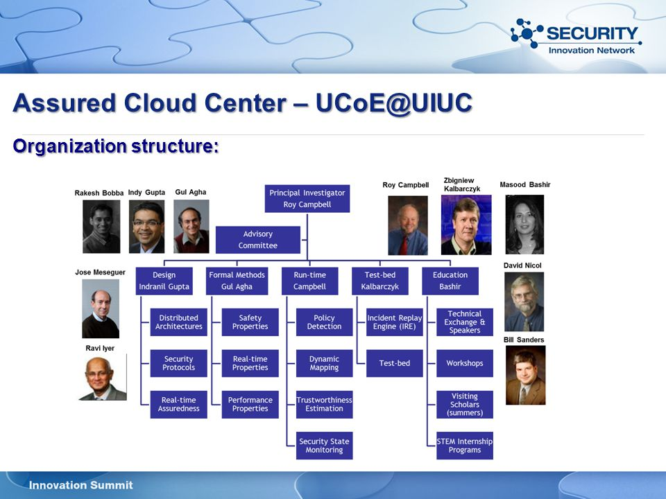 Assured Cloud Center – UCoE@UIUC