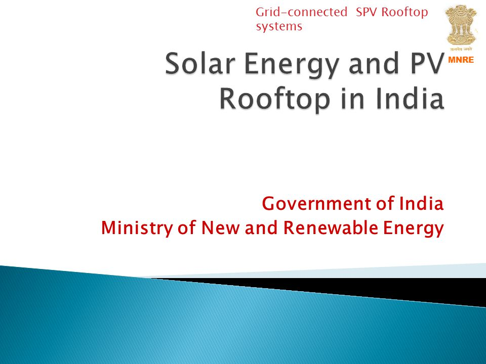 Solar Energy and PV Rooftop in India
