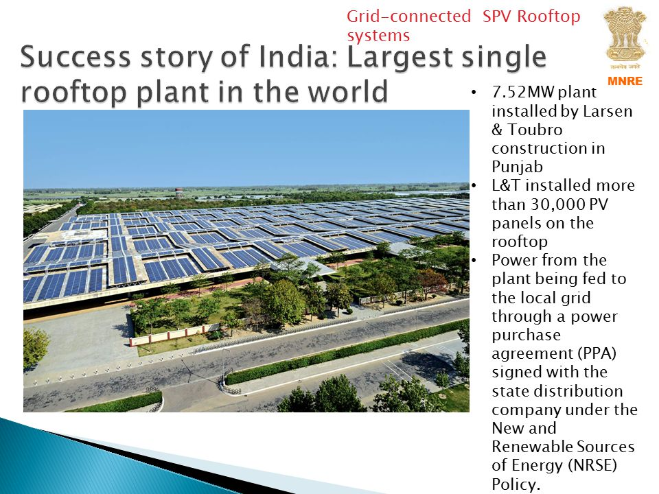 Success story of India: Largest single rooftop plant in the world