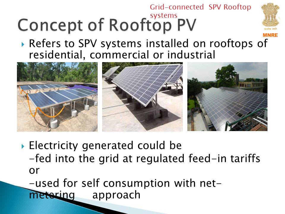 Grid-connected SPV Rooftop systems