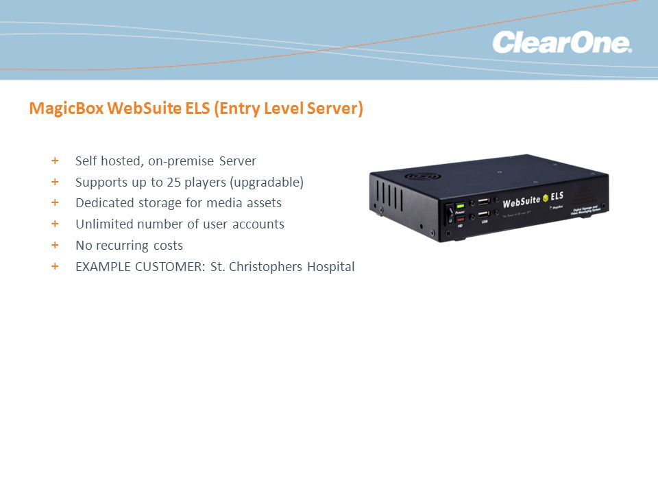 MagicBox WebSuite ELS (Entry Level Server)