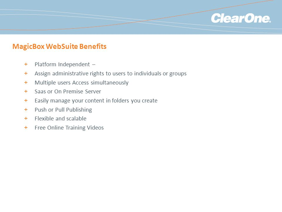 MagicBox WebSuite Benefits