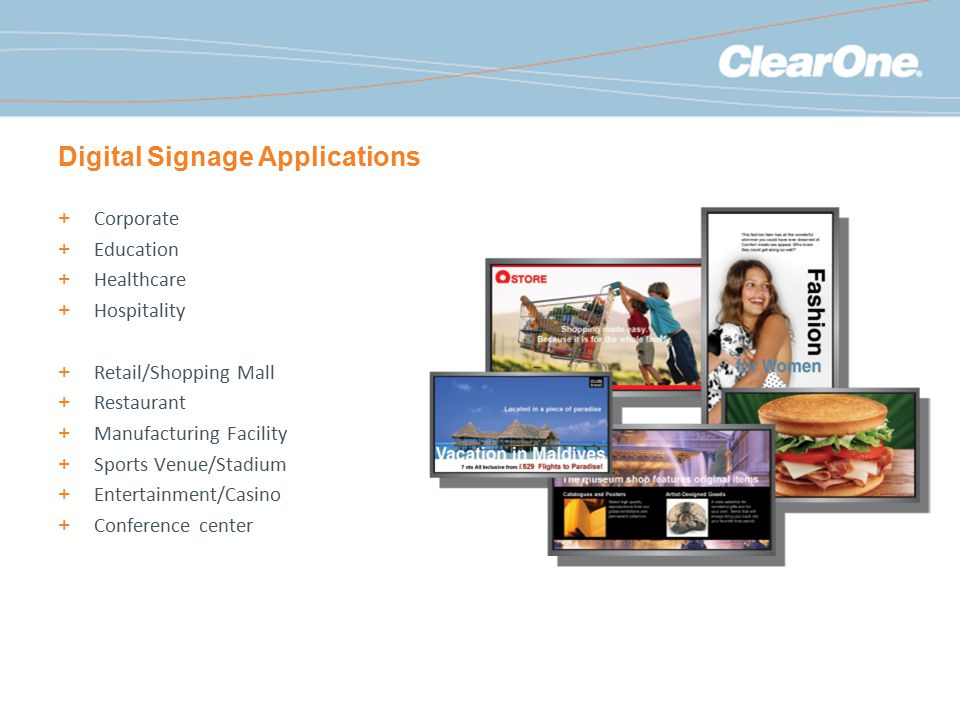 Digital Signage Applications