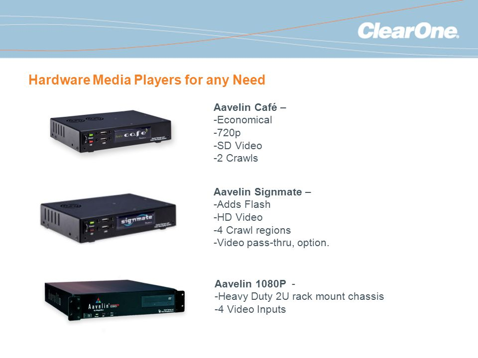 Hardware Media Players for any Need