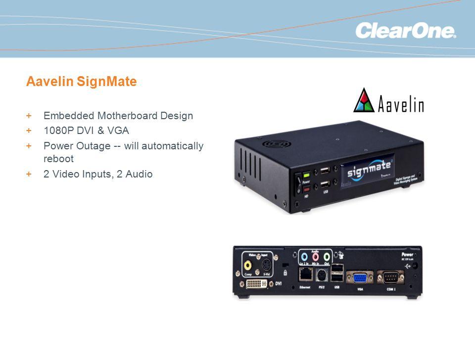 Aavelin SignMate Embedded Motherboard Design 1080P DVI & VGA
