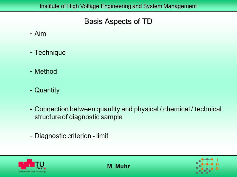 Basis Aspects of TD Aim Technique Method Quantity