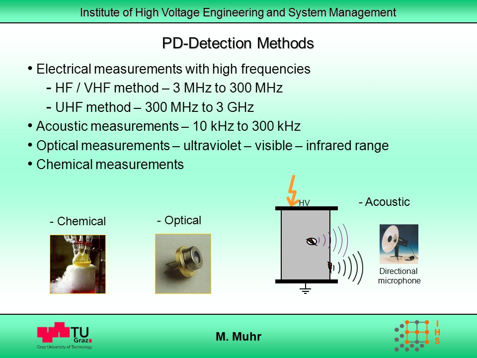 PD-Detection Methods Electrical measurements with high frequencies
