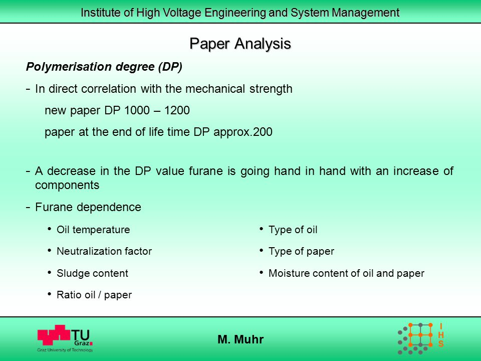 Paper Analysis Polymerisation degree (DP)